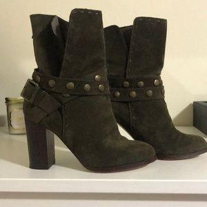 Olive Green mid calf boots